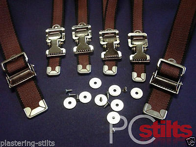 Drywall Stilt Replacement Strap Kit, Strap Adaptor Kit Leg Strap Kit