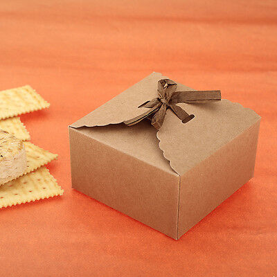 12 Cookies Candy Kraft Paper Gift Boxes Chocolate Cake Xmas Party Wedding Favors