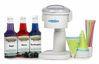 Snow Cone Machine and Syrup Party Package by Hawaiian Shaved Ice 3519-S BRANDNEW