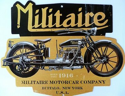 Militaire Motocar Co, Build Date 1916. All Weather Metal Sign
