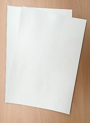 White Pigmented Leather Cowhide, 2 Pieces @ 25 Cm X 15 Cm, 1.4 - 1.6 Mm Thick