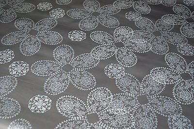Gunmetal Lace  Vinyl Wipe Clean Pvc Tablecloth