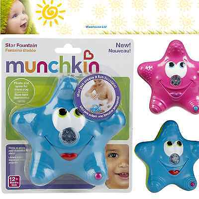 Munchkin Star Fountain Bath Toy, Water Squirter  Boy Girl, Pink or Blue.