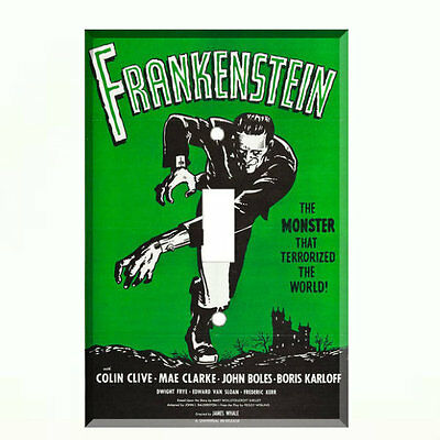 Frankenstein Movie Poster Light Switch Plate Wall Cover Boris Karloff