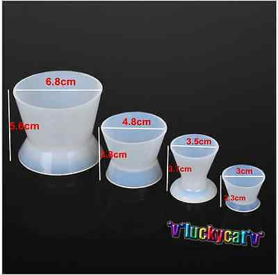 4pcs/set Dental Lab Silicone Mixing Bowl Cup New Dental Tools
