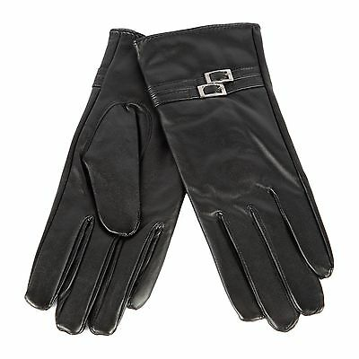 NEW Women's Winter Leather Gloves w/ Fur Warm Thermal Insulation B1