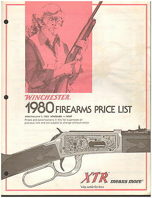 Winchester Firearms Price List - 1980