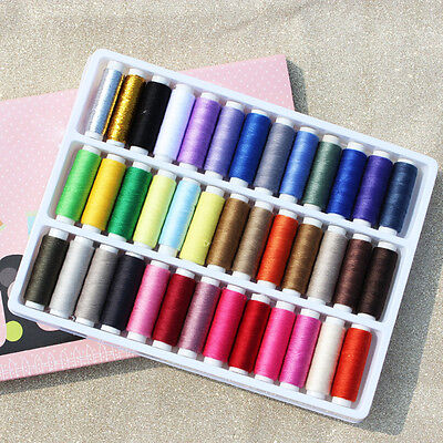 39 PCS Spools Finest Quality Sewing All Purpose Cotton Sewing Threads Reel Set