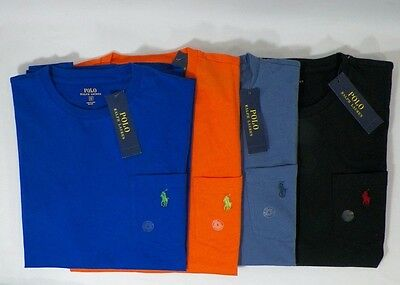 Polo Ralph Lauren Mens Cotton Crew-Neck T-Shirt Solid Tee Sz S,  M Or L  -Nwt