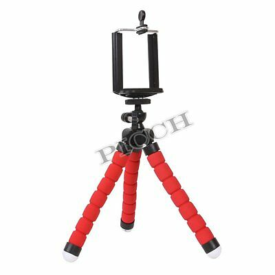 Red Mini Phone Holder Flexible Octopus Tripod Stand Mount For Camera Phone