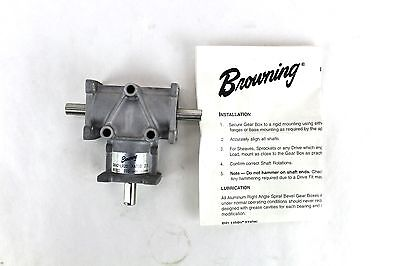 "Browning Gear Reducer 3/8"" 2:1 Ratio Right Angle Bevel LR Output 3ARA2-LR20 2W"