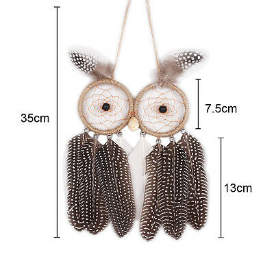 Newest Handmade Dream Catcher With Feather Wall Hanging Decoration Ornament OWL