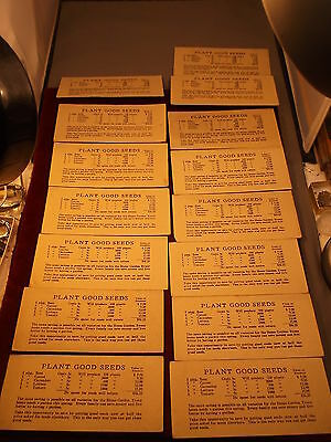 """Neat, Very Old Vtg Antique Heavy Card-Stock """"plant Good Seeds"""" Store Promotional"""