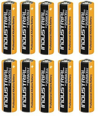 10 Pile Batterie Duracell Alcaline Industrial Procell Stilo Aa Nuovo