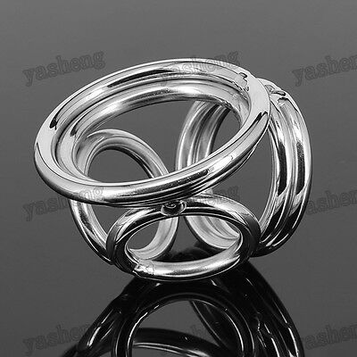 304 Stainless Steel Male Chastity Device penis cage Erection Enhancer Rings Ring