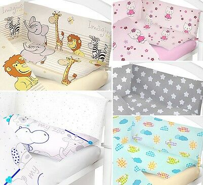 Baby Bedding Set 2 Pcs Cot Bed Quilt Duvet Pillow Case Cover Nursery New Designs