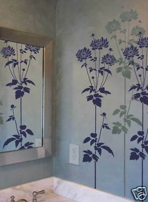 Garden Anemone Flower Stencil - Reusable Floral Stencils for Easy DIY Wall Decor