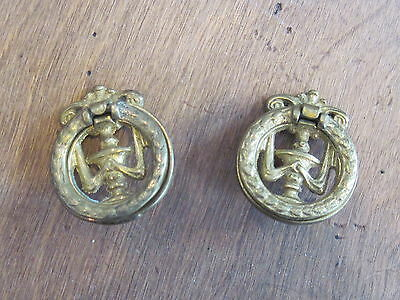 Lot Of 2 Vintage Antique Pull Handles ,dresser Drawer Funiture Hardware