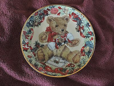 TEDDY'S FIRST CHRISTMAS Fine Porcelain COLLECTIBLE PLATE Franklin Mint