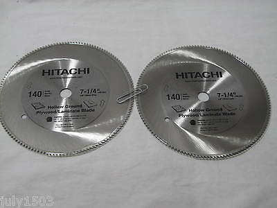 "(2) NEW Hitachi 7-1/4"" 140T Plywood Laminate Saw Blade 5/8 arbor 140 tooth"