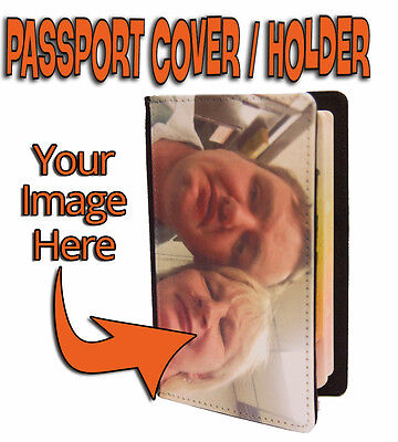 Personalised / Custom Passport Wallet Holder Cover Organiser Case  - Your Image
