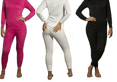 LADIES 2PC Thermal Underwear Set Top Bottom Long John Waffle New Johns Pants New