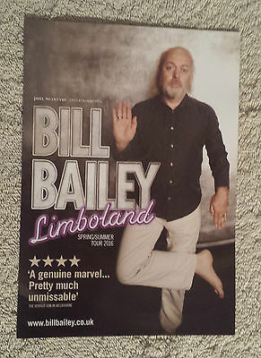 BILL BAILEY UK & Europe Tour/Concert Flyer Limboland Stand Up Comedy TV Musical