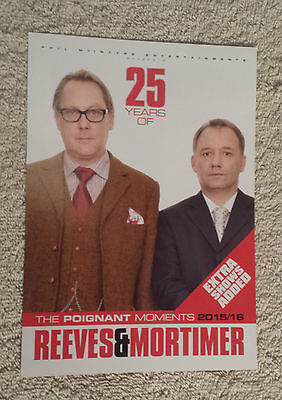 REEVES & MORTIMER UK Tour/Concert Flyer 25 Years The Poignant Moments Vic & Bob