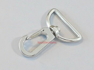 Metal Swivel Clasps Snap Trigger Lobster Clips D Ring 10 25 50 100  200 H144
