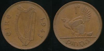 Ireland, Republic, 1943 One Penny, 1d - good Very Fine