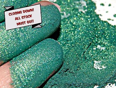 Pearlescent Mineral Mica Powder Pigment 10g - Blackish Green For Soaps Candles