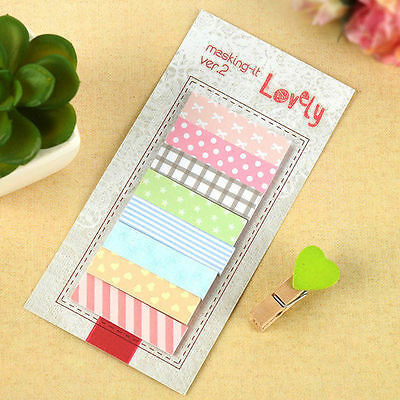 Cute 160 Pages Sticker Post It Bookmark Point Marker Memo Index Tab Sticky Notes