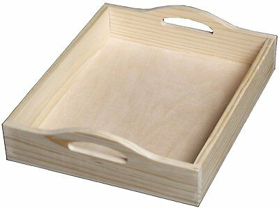 Walnut Hollow Unfinished Wood Serving Tray, DIY Home Décor Accent Piece AOI