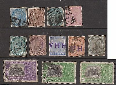 (OJ-13) 1860-1935 mix of12 ½A to 1R