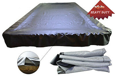 Heavy Duty Waterproof Pool Table Cover 6,7,8,9,12 FEET Various Szie Black/Brown