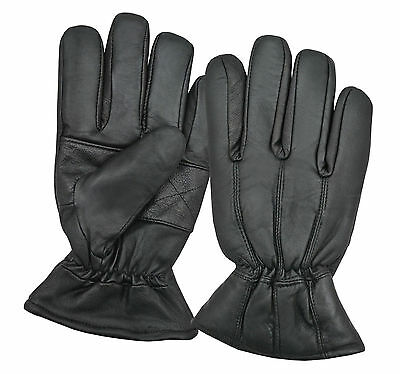 Men's Winter Fashion Dress Gloves Fully Lined Real Soft Sheep Black Leather