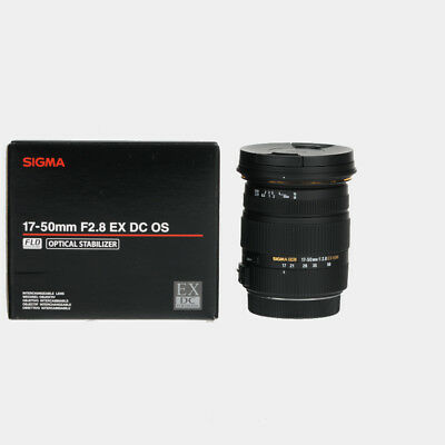 Brand New Sigma 17-50Mm F/2.8 Ex Dc Os Hsm Lens For Canon Mount
