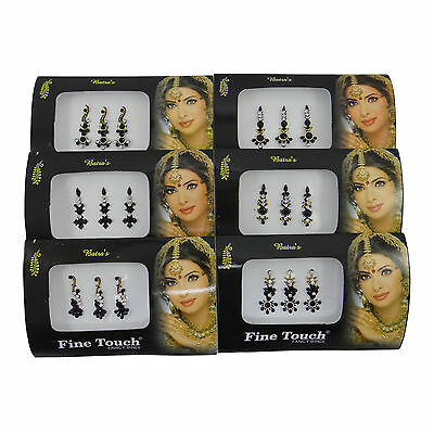 6 Different Full Pack Of Indian Traditional Bindi Forehead Temporary Tattoo
