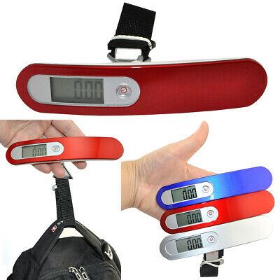 50kg/110lb 10g Digital Luggage Hand Hanging Fishing Travel Weight Scale Strap