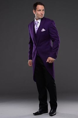 New Purple Bridegroom 2017 Groom Tuxedo Men Wear Groomsman Best Man Suit Evening