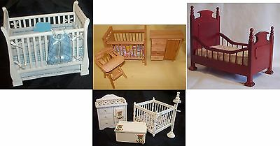 1:12 Scale Dolls House Nursery Suites, Cots & Other Nursery Items