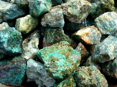 Natural CHRYSOCOLLA Rough - 3000 CARAT Lots - Rough Rocks Gems Plus FREE ITEMS