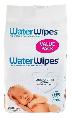 WaterWipes Super Value Box - Pack of 4 Total 240 Baby Wipes