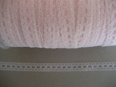 CRAFT-SEWING-LACE 15mm pastel peachy/pink eyelet (metre variations available)