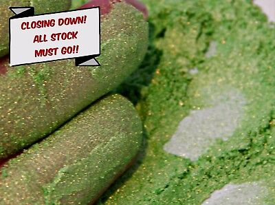 Pearlescent Mineral Mica Pigment 10g - Jade Green CLOSING DOWN ALL STOCK MUST GO