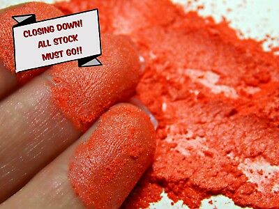 PRICE REDUCED Pearlescent Mica Powder Pigment 10g - Iridescent Red CLOSING DOWN