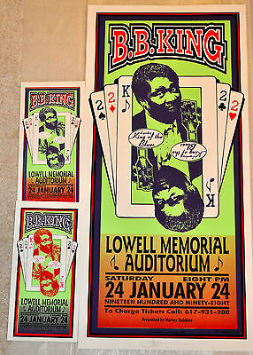 B.b. King New York 1998 Screenprint Concert Poster & Handbill Mark Arminski Mint