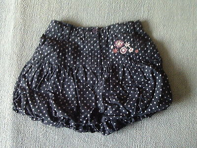 Baby Girls 9-12 Months - Navy Blue Spotted 'Bubble' Skirt