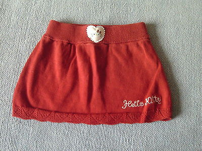 Baby Girls 2-4 Months - Red Knitted Cotton Skirt - 'Hello Kitty' - H&M
