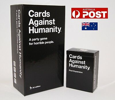 Cards Against Humanity Australian Version Main Base Set + 1st Expansion Pack